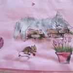 maglietta dipinta a mano gatto