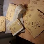 pergamene anticate a fuoco