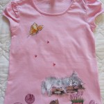 maglietta dipinta gatto