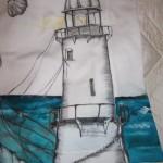 maglietta decorata faro mare